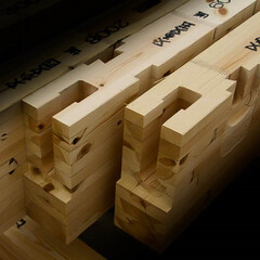 プレカット/木造住宅/木造軸組工法 精度の高い木材プレカット