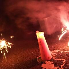 アラフォー/花火 今日はアラフォー三人組で花火🎆 手持ち花…