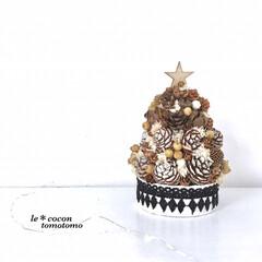 手作り雑貨/クリスマスツリー/クリスマス雑貨/松ぼっくりツリー/木の実アレンジ/雑貨/... 木の実たっぷりツリーアレンジ♪