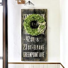 グリーン/Handmade/ディスプレイ/紫陽花リース/アナベルリース/手作りリース/... 綺麗なグリーン色のアナベルリース作りまし…
