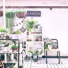 幼稚園椅子リメイク/癒し空間/多肉植物/グリーンのある暮らし/ハンドメイド/ワイヤークラフト/... ベランダの模様替えしました♪