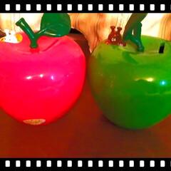 即買い/貯金箱/りんご/セカンドストリート/収納/雑貨/... 2nd Streetにて。  赤りんごの…