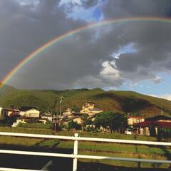 風景/雨あがり/虹のある暮らし☆*。おひさま幻想曲☆*。/梅雨/暮らし/梅雨対策/... 雨上がりに  虹🌈 💕🎶が出ていました!…