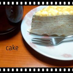 誕生日/ミルクレープ/セブン/cake こんにちはヽ(^0^)ノ  5月が母の誕…(1枚目)