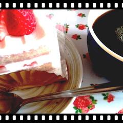 食べすぎ注意/誕生日ケーキ CAKE 美味しくいただきました😋 今日…