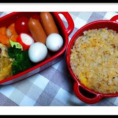 ボヌール/お弁当おかず/カニクリームコロッケ/チャーハン/食事情/お弁当/... 今日のお弁当~♥♪  カニクリームコロッ…