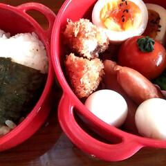 ボヌール/おべんとう/令和の一枚/はじめてフォト投稿/フォロー大歓迎/お弁当/... 遅いお昼。  お弁当作るの、楽しくなりま…