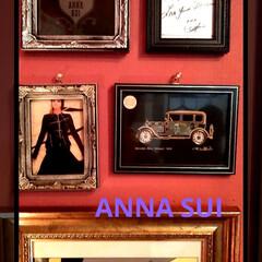 インテリア/撤退/額縁/フレーム/アナスイコラボ/セリア/... 年末に頂いたANNA SUIの カードを…