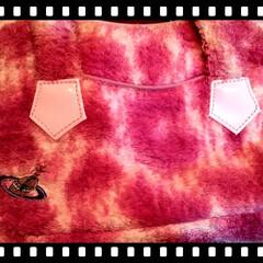 プレゼント/お気に入り/レオパード/ヴィヴィアンウエストウッド/お泊まり/bag/... ヴィヴィアンのタオル地の pinkのba…