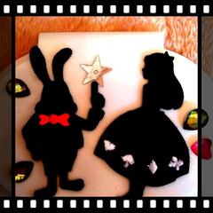 アリス/ウサギ/ワッペン/ウェットティッシュ/ピンク/ハンドメイド/... ウェットティッシュケースのカバー。  N…