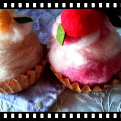 羊毛フェルト/キット/ケーキ/ピンク/雑貨/ハンドメイド/... 母作。  羊毛フェルトのcake♥♪  …