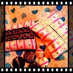 くるみボタン/端切れでアレンジ/ティッシュケース/ひな祭り/ピンク/セリア/... Seriaで購入したpinkの可愛い生地…