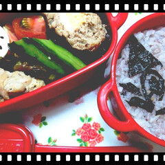 ボヌール/ハンバーグ/おうちごはん/お弁当/簡単/時短レシピ 今日のお弁当~☆♥  久しぶりに朝作った…