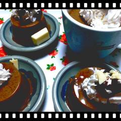 豆乳/ババロア/ミスド/簡単/時短レシピ 豆乳ババロア完成♥♪  簡単ホイップクリ…(1枚目)