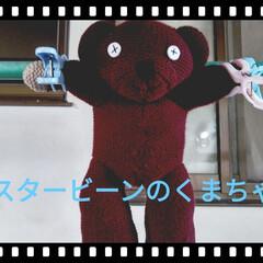洗濯/くまちゃん/ミスタービーン/雑貨 ミスタービーンのテディ🧸を 洗いました!…