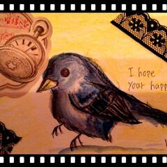 皆さまいいねありがとうございます/自作/青い鳥/投稿/ハンドメイド リミアの皆様へ✨  投稿600枚記念❣️…