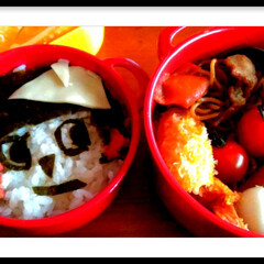 お弁当/ボヌール/令和の一枚/フォロー大歓迎/至福のひととき/おうちごはんクラブ/... 早速ボヌールのお弁当箱で  作りました♥…