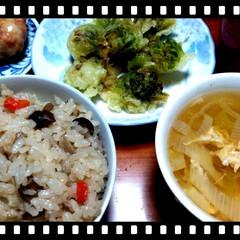五目ごはん/ふきのとう/夕食おかず/お弁当のおかず&便利グッズ/キッチン/住まい/... 夕食準備~♪  今日はふきのとうの天ぷら…