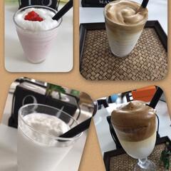 飲み物編/おうちごはん/暮らし 突然ですが、最近ハマってます😁 カフェに…