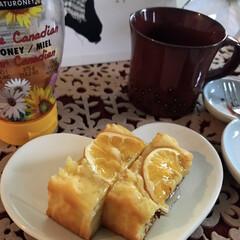 レモンケーキ/おやつタイム/リミアの冬暮らし 仕事から帰って、すぐ 🍋ケーキいただきま…