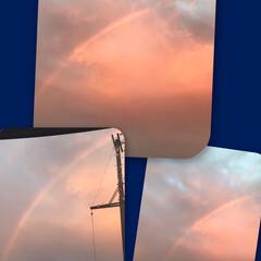スタバ/虹が出た/本日のつまみ/宅呑み推進委員会/チンチラシルバー/にゃんこ同好会/... おばんです☺️ 今日は途中雷雨でにゃんず…
