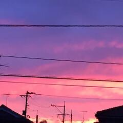 空/夕日 やっと、雨が止んで^ - ^  西の空が…(1枚目)