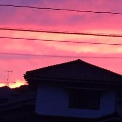 空/夕日 やっと、雨が止んで^ - ^  西の空が…(2枚目)
