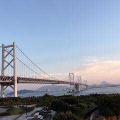 旅行/旅 与島から見た瀬戸大橋!