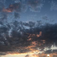 夕焼け曇 その後の夕焼け空
