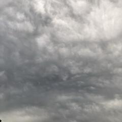 どんより雲 現在の空、 どんよりとした雲で これから…
