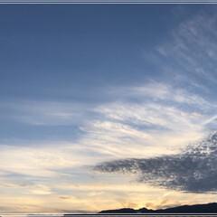 夕焼け空 今日は一日、いいお天気でした。 久しぶり…