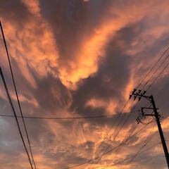 夕焼け空 今日も暑い一日でした💦 明日も暑い様です…