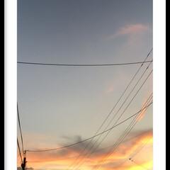 夕焼け空 台風の影響で昨日は暑かったです😥 皆さん…