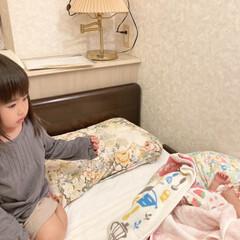 娘の成長日記/赤ちゃん/姉妹 初めて長女が次女と対面しました!👶👧 不…
