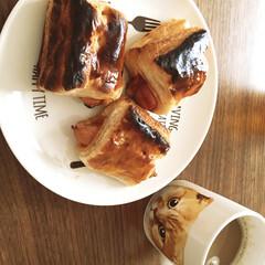 おやつ/フォロー大歓迎 ウィンナーパイをおやつに作りました☺️♫…