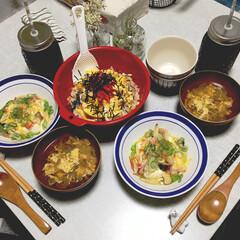 料理/ちらし寿司/ひな祭り 少しはやめのひな祭りをしました🎎🌸 娘の…