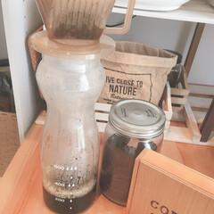 アイスコーヒー/お家カフェ/カインズホーム カインズホームでみつけたポット☺️ お客…