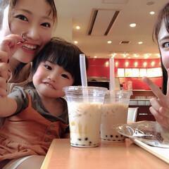 タピオカ/ドトール/タピオカミルクティー/おでかけ/フォロー大歓迎 昨日は、女3人で遊びました☺️💓妹と娘と…(1枚目)