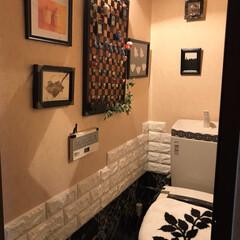 トイレDIY/トイレ/DIY/ダイソー 床はプレイマットを トイレの形に切って敷…(2枚目)