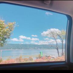 ドライブ/フォト/マイナスイオン/おでかけ 【夏休みの想い出】 ドライブ中の窓からの…