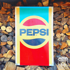 アドバタイジング/ヴィンテージ看板/ヴィンテージサイン/アンスタカタログ/アメリカ買付/アンティークスタイル/... 🇺🇸アメリカ買付 PEPSI COLA(…