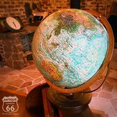 こども部屋/古道具/リプルーグル/インテリア地球儀/ヴィンテージインテリア/ヴィンテージ地球儀/... 🇺🇸Made in U.S.A. 193…