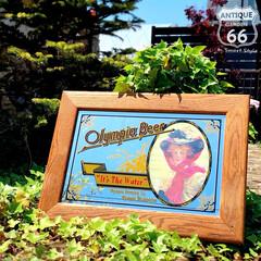 カリフォルニアスタイル/アメリカンヴィンテージ/パブミラー/キャッチコピー/おもしろい/アメリカ買付/... 🇺🇸アメリカ買付 「OLYMPIA BE…