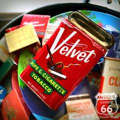 ベルベット/コレクション/ディスプレイ/レトロ/ビンテージ缶/アンスタカタログ/... 🇺🇸アメリカで見つけた、 古き良きアメリ…