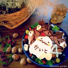 ガトーショコラ/ケーキデコ/デコケーキ/バースデーケーキ/ハロウィン/フード/... ハロウィン兼 おばけ好きな ムスコ・4さ…