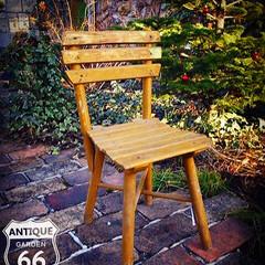 フラワースタンド/アメリカンヴィンテージ/アンティークチェアー/こども椅子/キッズチェア/シャビー/... 🇺🇸アメリカ買付 キッズサイズの木製アン…