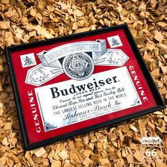 ヴィンテージ看板/パブミラー/アンスタ/アンティークスタイル/アメリカンヴィンテージ/アンスタカタログ/... 🇺🇸アメリカ買付 「Budweiser(…