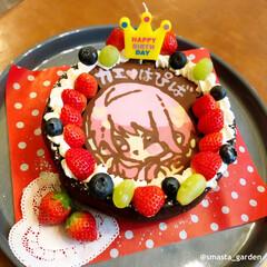 ケーキデコ/佐藤家ーキ/すとぷり/お誕生日パーティー/お誕生日ケーキ/手作りケーキ/... 🎂birthday 我が家の 1番目 め…