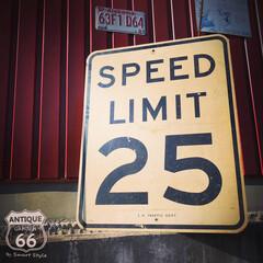 アメリカ買付/ビンテージ看板/ディスプレイ/ロサンゼルス/ロードサイン/アメリカンヴィンテージ/... 🇺🇸アメリカ買付 《SPEED LIMI…(1枚目)