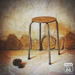 丸椅子/フラワースタンド/アイアン/アンスタカタログ/アンスタ/アンティークスタイル/... 🇺🇸アメリカ買付け インダストリアルな …